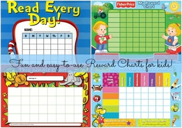 Motivate your child to excel with these easy-to-use reward charts!