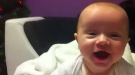 Dad plays with baby while mom is away - Cute baby video!