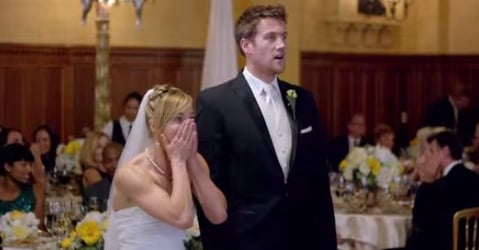 Guess who surprised these newly weds at their reception!