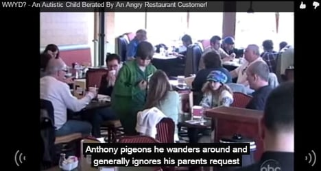 This man was mean to an Autistic child - Watch how people react!