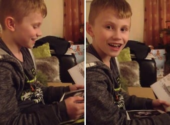 """This boy finally gets the """"special Christmas gift"""" he's been asking for!"""