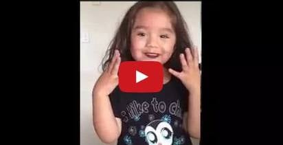 This little girl puts make-up on for the sweetest reason