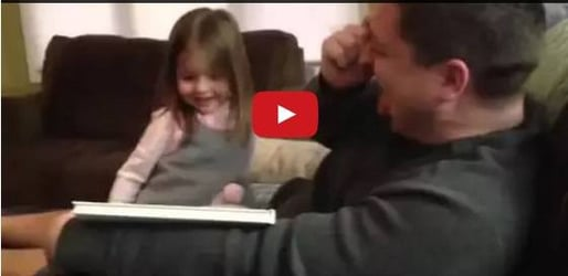 Girl's funny reaction when she finds out she's a big sister