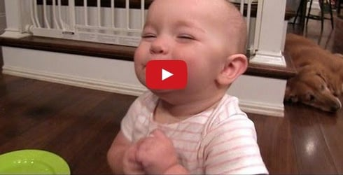 Watch this to find out why this adorable baby is so happy