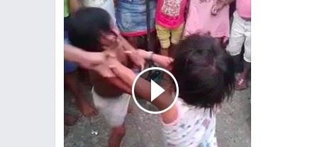 Mother allows her daughter to get beat up by another child