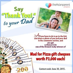 Father's Day 2015: Treat your dad to delicious meal worth P3,000!