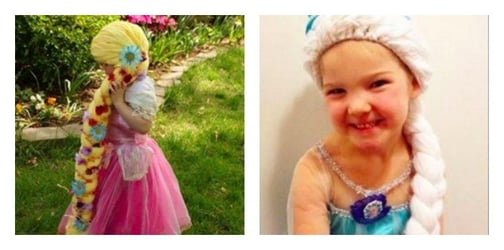 Mom creates Disney princess wigs for little girls with cancer
