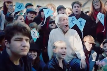 Supercalifragalistic! Mary Poppins Flash Mob for Dick Van Dyke's 90th Birthday