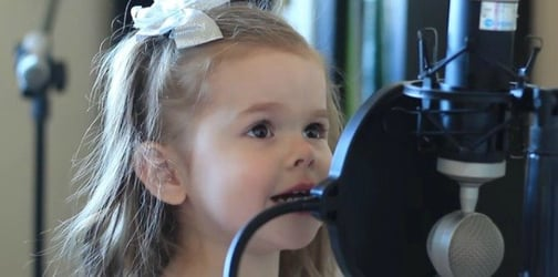 Dad records her precious little girl sing this classic Disney song flawlessly!