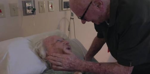 92-year-old man lovingly serenades dying wife