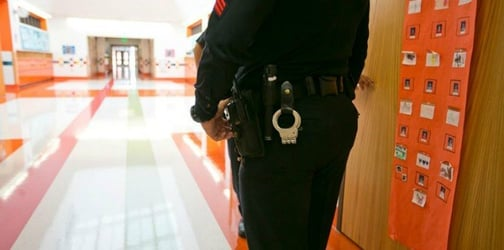 School officers handcuff seven-year-old with autism after a row with teacher