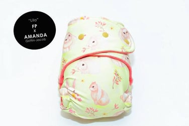 Fluffy Pwets made cloth diapers as cute as your baby's bottom