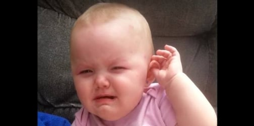 This baby girl has mastered the art of fake crying