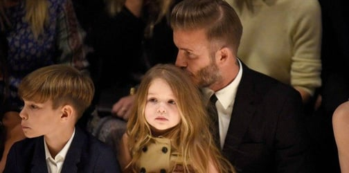 4-year-old Harper Beckham is now designing clothes