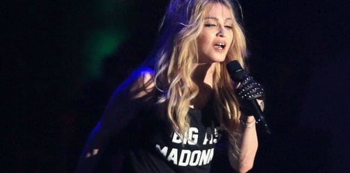 Madonna breaks down on stage after losing custody of her son
