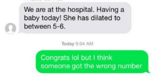 Texting mix-up sends strangers to hospital to visit newborn