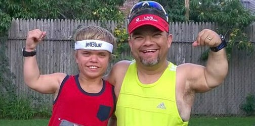 Father with dwarfism inspires son and others by running marathons