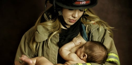 Husband lands himself in hot waters after wife was photographed nursing in his uniform