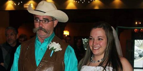 Nothing could keep this dad from walking his daughter down the aisle