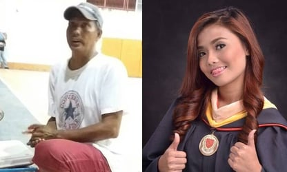 College grad's touching message to dad who peddled burgers and siomai for 16 years