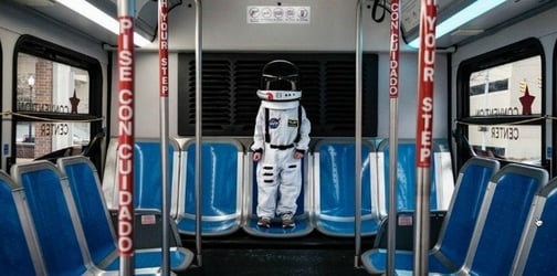Dad photographs kid as an 'astronaut' going on ordinary, amazing adventures