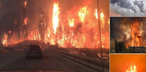 TRENDING: Massive wildfire in Canada engulfs entire city, affects 18,000 residents