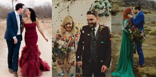 21 Beautiful brides who prove you don't have to wear white on your wedding day!