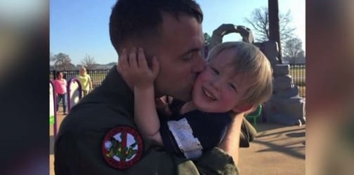 Marine dad celebrates all the holidays he will miss with his son