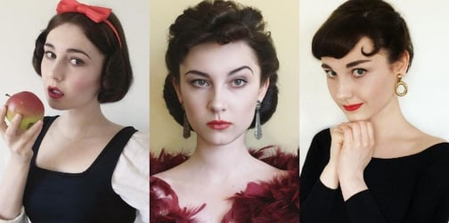 17-year-old transforms herself into iconic women in film