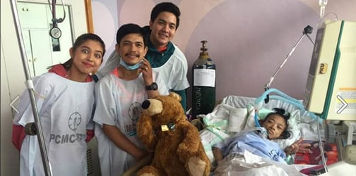 AlDub heeds father's plea; visits severely ill child in hospital