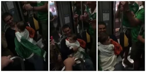 These Irish football fans sang lullabies to a baby, and it's so sweet!