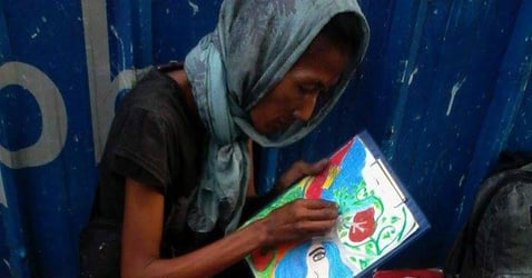 Daily inspiration: Homeless artist in Makati gets first solo exhibit!