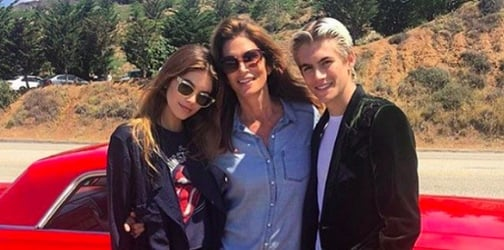 Cindy Crawford's kids are following in her footsteps