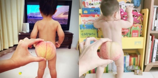 Adorable new Instagram trend: Baby butts covered with peaches