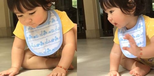 """WATCH: Animal lover Scarlet Snow Belo makes friends with """"Millicent"""" the millipede!"""