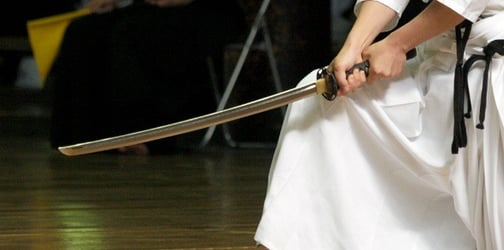 Single mom fights off intruder using samurai sword with her sons' help
