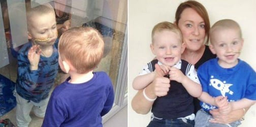 Two-year-old says goodbye to best friend before undergoing chemotherapy