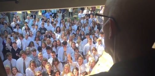 400 students skipped class to do something amazing for their teacher