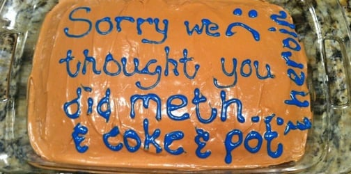LOOK: Mom's hilarious apology cake after accusing daughter of doing drugs