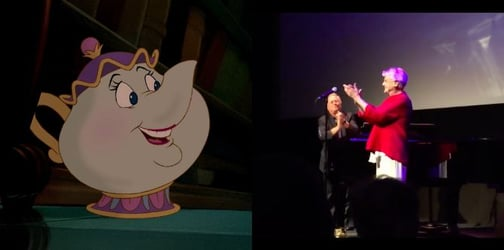 """Watch Mrs. Potts sing the """"Beauty and The Beast"""" theme song perfectly"""