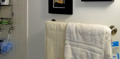 Oh gross! Your damp bath towels are breeding grounds for germs