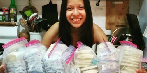 Mother honors her stillborn son's memory by donating over 2,000 ounces of breast milk