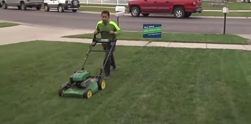 11-year-old boy mows lawns to buy gravestone for father he never met