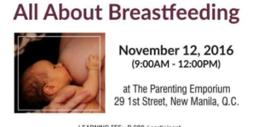 All about breastfeeding + family events in Manila this week: November 7 to 13