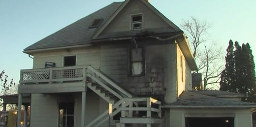 4 young sisters trapped in burning home