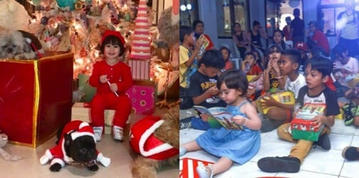 LOOK: Scarlet Snow Belo learns how to share her blessings on Christmas
