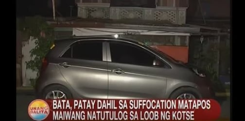 8-year-old girl dies from suffocation after being left inside car
