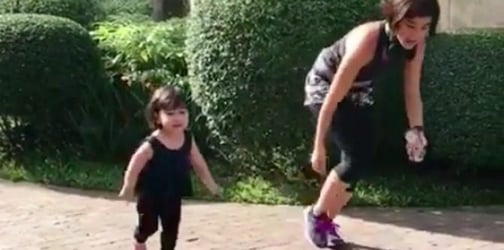 Anne Curtis has a new running buddy: her inaanak Scarlet Snow!