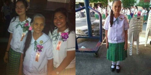 79-year-old woman completes Grade 10, inspires netizens