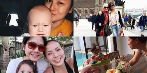 See how these celebrity families spent Mother's Day!